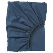 УЛЛЬВИДЕ Простыня натяжная, темно-синий, 160x200 см