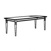 ИНГАТОРП Раздвижной стол, черный, 155/215x87 см