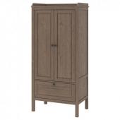 СУНДВИК Шкаф платяной, серо-коричневый, 80x50x171 см