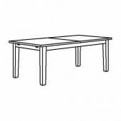 СТУРНЭС Раздвижной стол, морилка,антик, 201/247/293x105 см