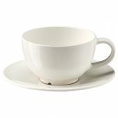 ВАРДАГЕН Чашка чайная с блюдцем, белый с оттенком, 26 сл