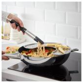 ИКЕА 365+ ЙЭЛТЕ Кухонные щипцы, нержавеющ сталь, черный