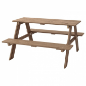 РЕСО Детский стол д/пикника, серо-коричневая морилка