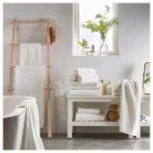ГЭРЕН Простыня банная, белый, 100x150 см