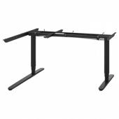БЕКАНТ Угловой стол-трансформер,электр, черный, 160x110 см