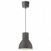 ХЕКТАР Подвесной светильник, темно-серый, 22 см