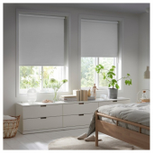 ФРИДАНС Рулонная штора, блокирующая свет, белый, 120x195 см