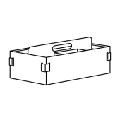 КВИССЛЕ Подставка д/канцелярских принадлежн, 18x36x14 см