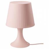 ЛАМПАН Лампа настольная, светло-розовый, 29 см