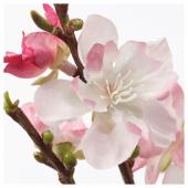 СМИККА Цветок искусственный, цветы вишни, розовый, 130 см