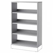 ХАВСТА Стеллаж, серый, 81x123x35 см