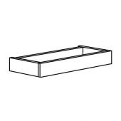 ХАВСТА Цоколь, серый, 81x12x37 см