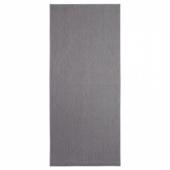 СОЛЛИНГЕ Ковер безворсовый, серый, 65x150 см