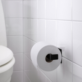 СКОГСВИКЕН Держатель туалетной бумаги, черный