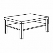 ЛАКК Журнальный стол, под беленый дуб, 118x78 см