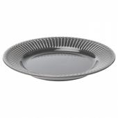 СТРИММИГ Тарелка десертная, каменная керамика серый, 21 см