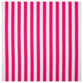 СОФИА Ткань, в широкую полоску, ярко-розовый/белый, 150 см