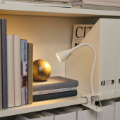 НЭВЛИНГЕ Лампа с зажимом, светодиодная, белый