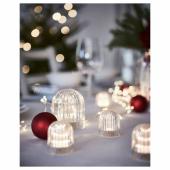АКТИВЕРЭД Декоративная подсветка, светодиоды, с батарейным питанием, прозрачный, 8 см