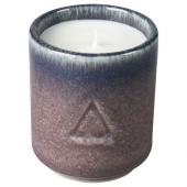 ОСИНЛИГ Ароматическая свеча в стакане, Инжир и кипарис, сиреневый синий, 7 см