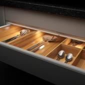 МИТЛЕД Светодиодная подсветка ящика,датчик, регулируемая яркость белый, 76 см