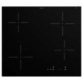 ГРУНДАД Индукц варочн панель, ИКЕА 300 черный, 59 см