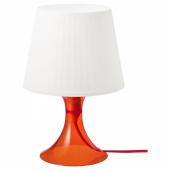 ЛАМПАН Лампа настольная, оранжевый, белый, 29 см