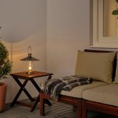 СТРОЛА Светодиодный фонарь, с батарейным питанием, для сада черный