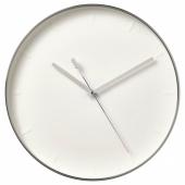 МАЛЛХОППА Настенные часы, серебристый, 35 см