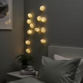 СТРОЛА Гирлянда, 12 светодиодов, с батарейным питанием, оригами белый