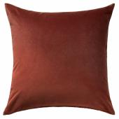 САНЕЛА Чехол на подушку, красный/коричневый, 65x65 см