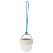 СОЛВИДЕН Подвесная светодиодная лампа, серый синий, для сада шаровидный, 10 см