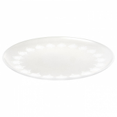 ИНБЬЮДЕН Тарелка десертная, матовое стекло, 21 см