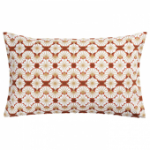 ЛЬЮВАРЕ Чехол на подушку, с цветочным орнаментом оранжевый, бежевый, 40x65 см