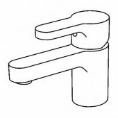 ЭНСЕН Смеситель для раковины с выпуском, хромированный