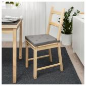 ЮСТИНА Подушка на стул, серый, 35/42x40x4.0 см