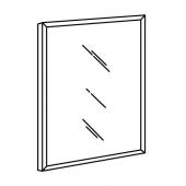 НИССЕДАЛЬ Зеркало, белый, 65x65 см