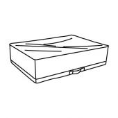 СТУК Сумка для хранения, белый/серый, 55x51x18 см