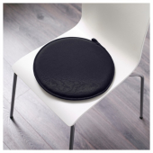 ЦИЛЛА Подушка на стул, черный, 34 см