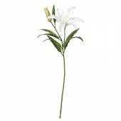 СМИККА Цветок искусственный, лилия, белый, 85 см