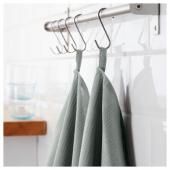 ИРИС Полотенце кухонное, серый, 50x70 см