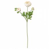 СМИККА Цветок искусственный, лютик, белый, 52 см