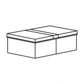ФУЛЛСМОКАД Коробка для одежды с крышкой, 51x34x18 см