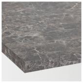ЭКБАККЕН Столешница, темно-серый под мрамор, ламинат ламинат под мрамор, 246x2.8 см