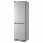 НЕДИСАД Холодильник/ морозильник, серебристый, 233/108 л
