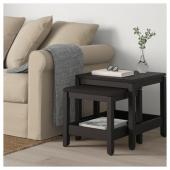 ХАВСТА Комплект столов, 2 шт, темно-коричневый