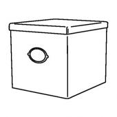 КВАРНВИК Коробка с крышкой, серый, 30x30x30 см