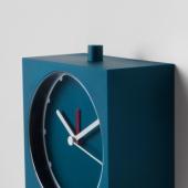 БАЙК Будильник, темно-синий, 10x10 см