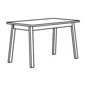НОРРОКЕР Стол, береза, 125x74 см