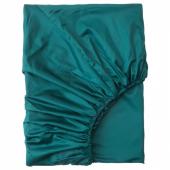 НАТТЭСМИН Простыня натяжная, темно-зеленый, 140x200 см